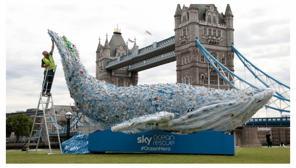 Plastic waste at https://news.sky.com/story/sky-ocean-rescue-plasticus-whale-completes-national-campaign-tour-11011242
